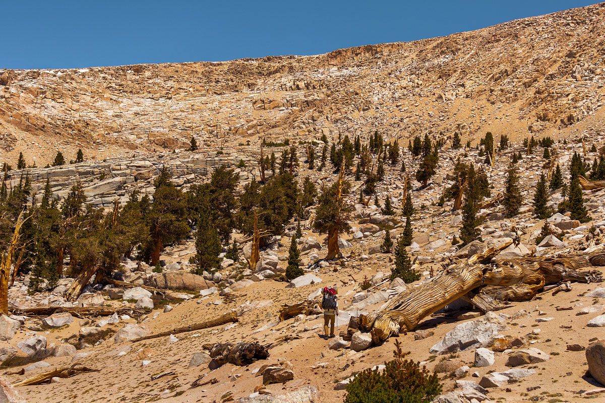 Cirque Peak approaching entrance of Sequoia and Kings Canyon National Parks.