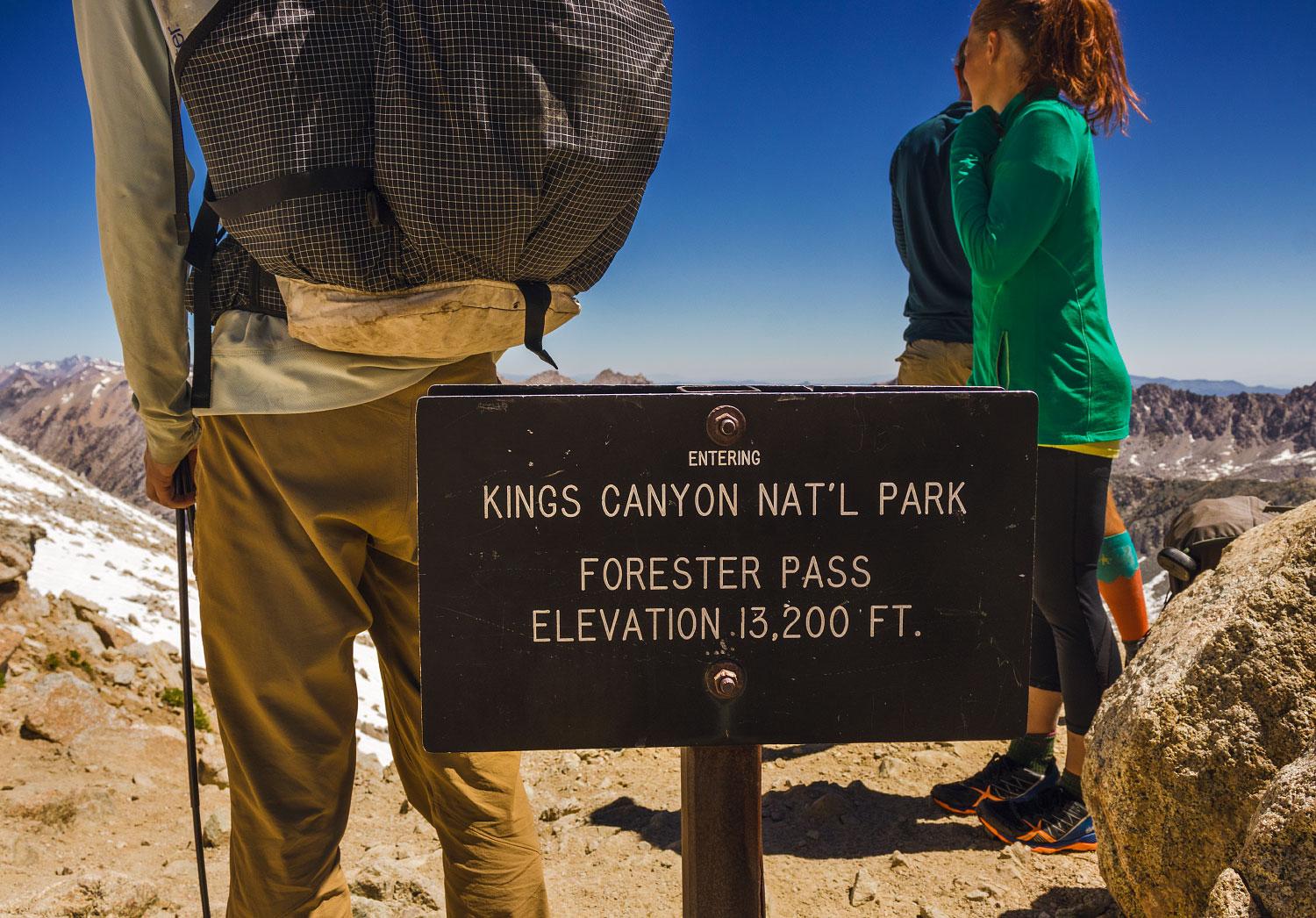 Forester Pass and the Kings Canyon and Sequoia National Parks boundary, mile 779.5.