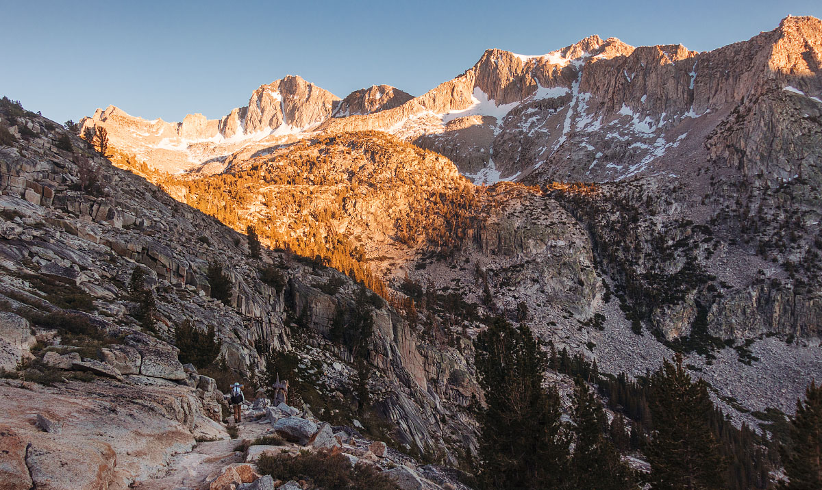 Sunset over Bishop Pass.