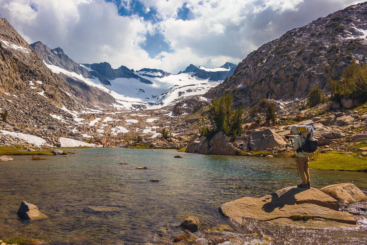 Donahue Pass, Lyell Fork, and Lyell Glacier, mile 930.5,