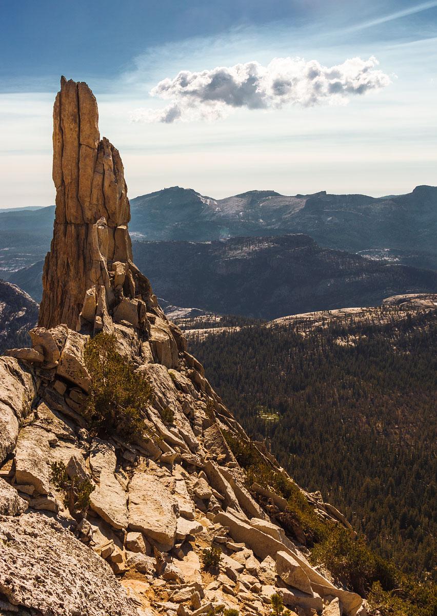 Cathedral Peak, looking south.