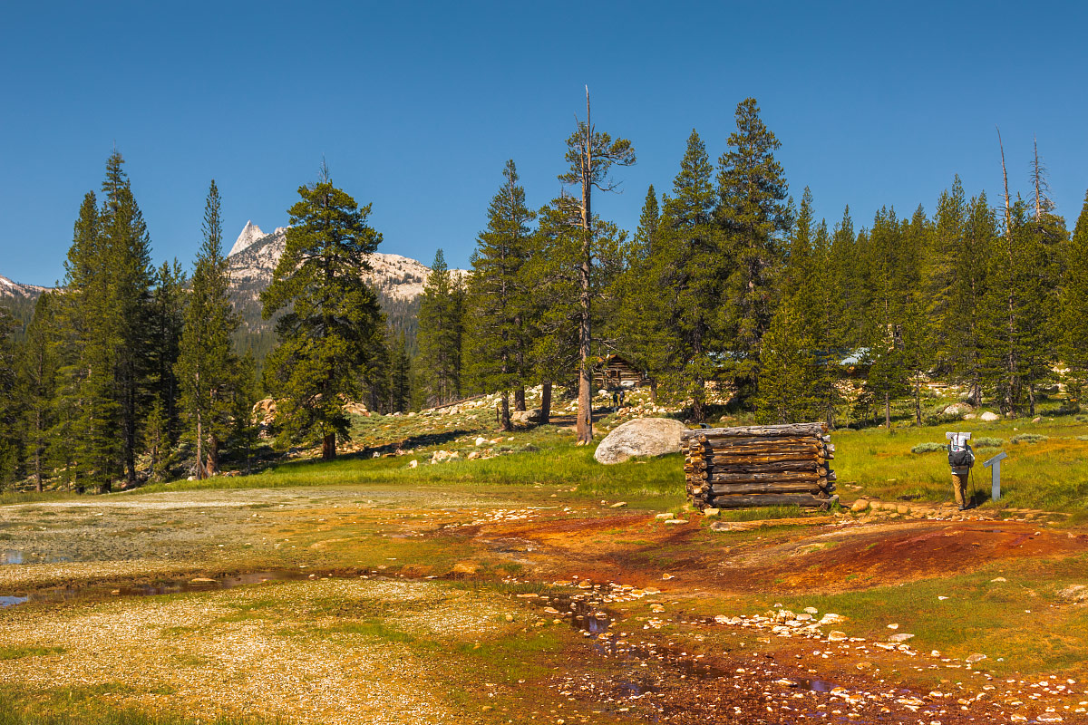 Cathedral Peak from Soda Springs.