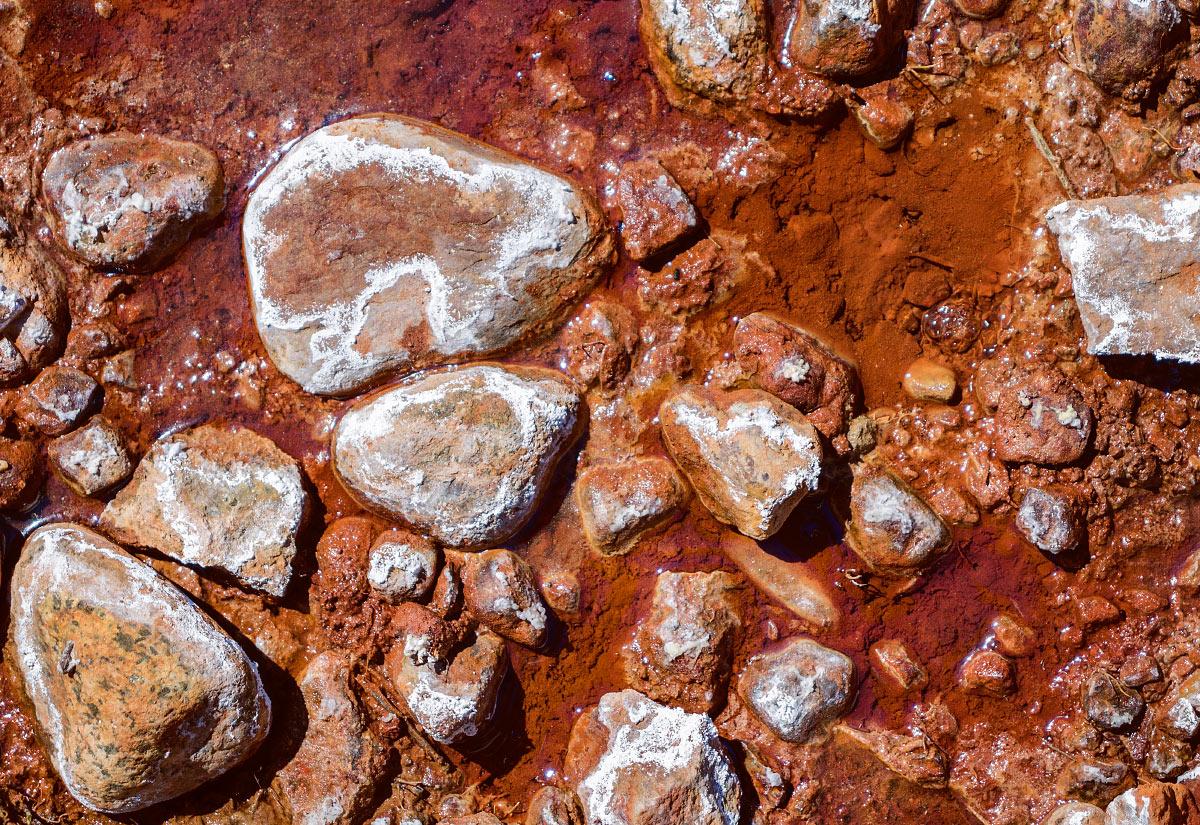 Unique color and corrosion of Soda Springs.