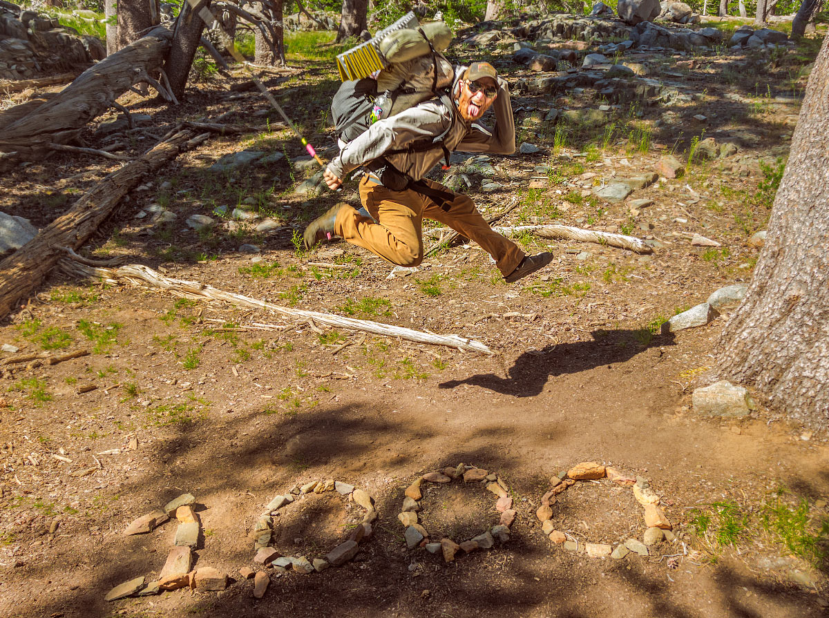 Mile marker 1,000 on the Pacific Crest Trail.