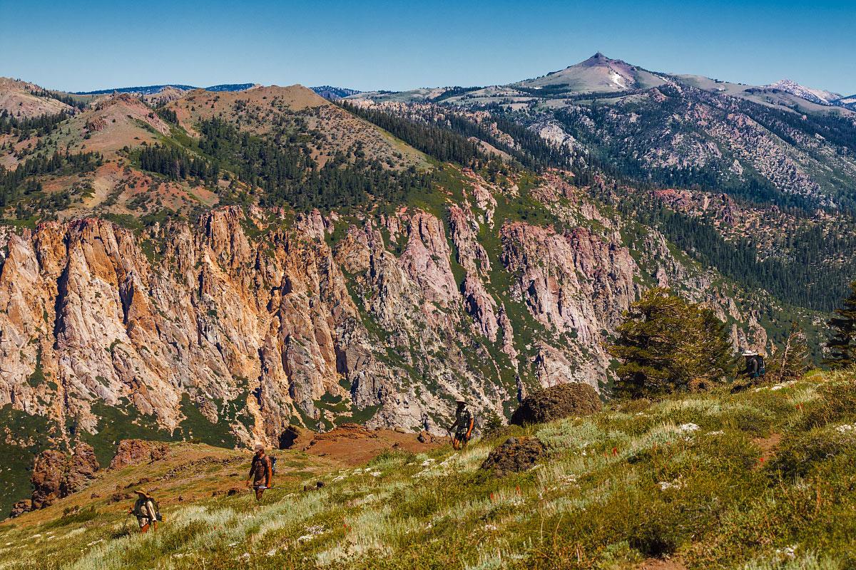 Thornburg Peak and a distant Hawkins Peak, mile 1057.6