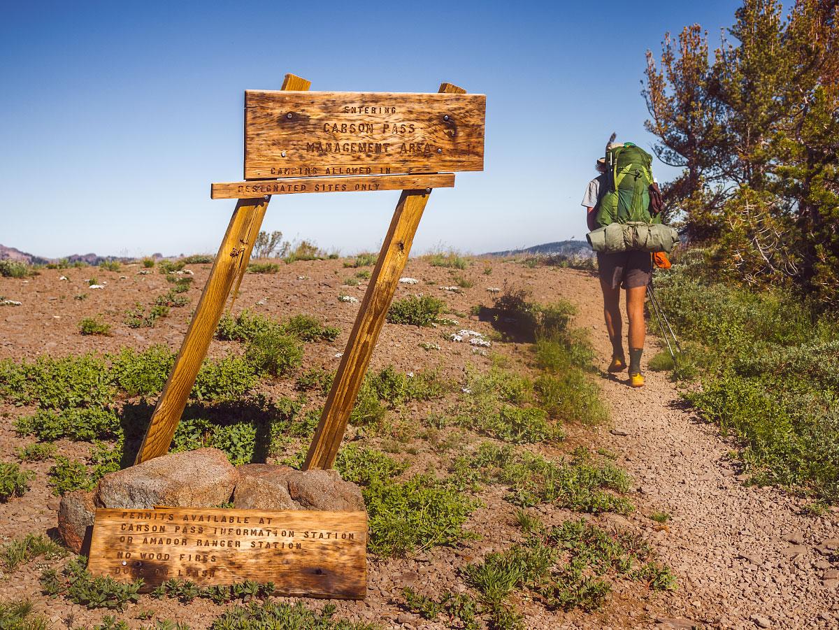 Carson Pass, mile 1074.9.