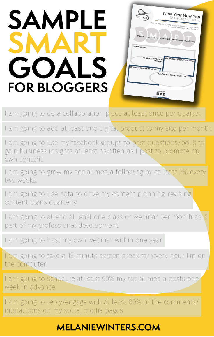 Make sure your goals are SMART: Specific, Measurable, Attainable, Reasonable and Time-Bound