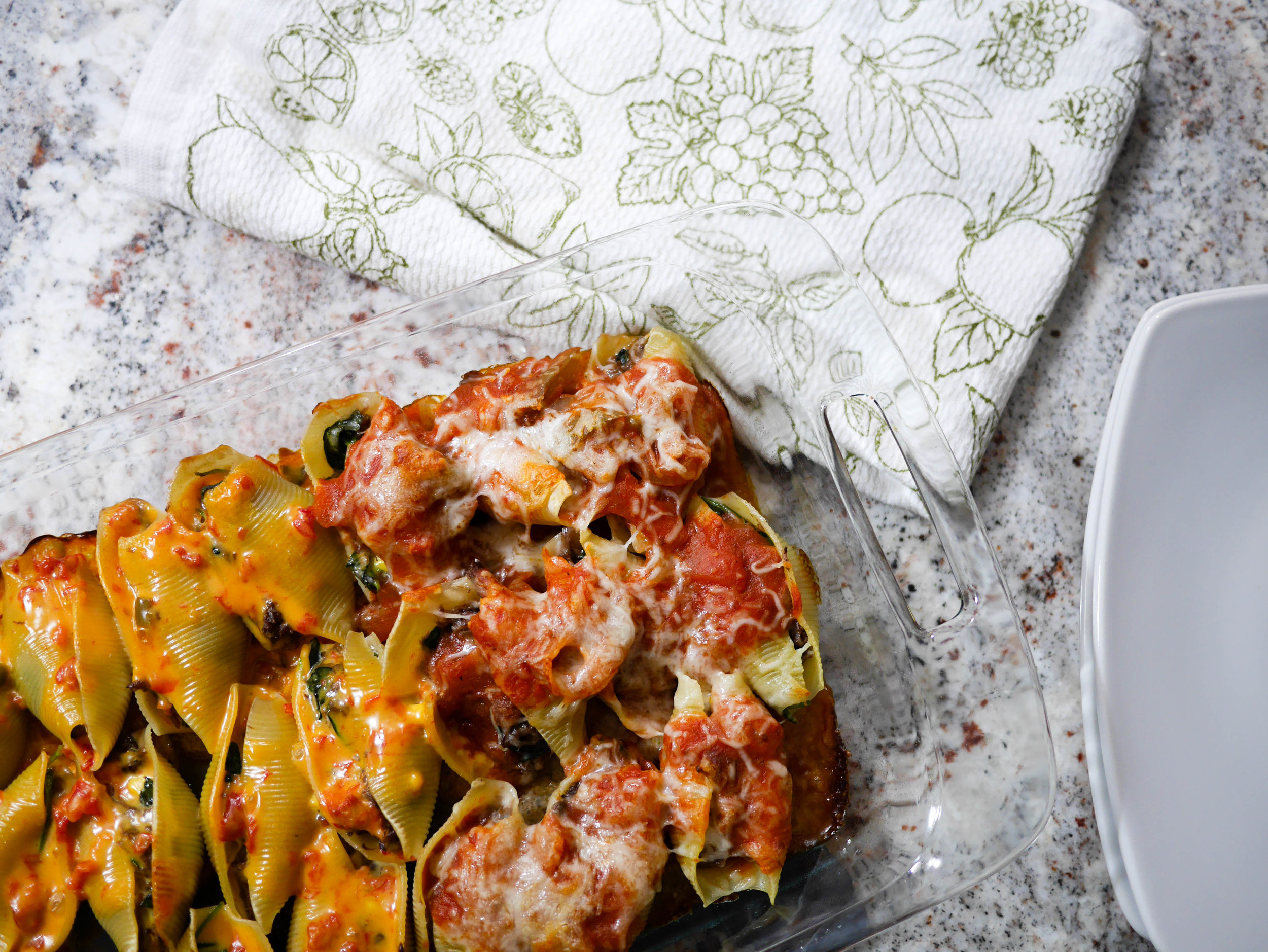Rethink your leftovers with stuffed shells. A surprising mixture of leftovers and household staples results in something simple and delicious.
