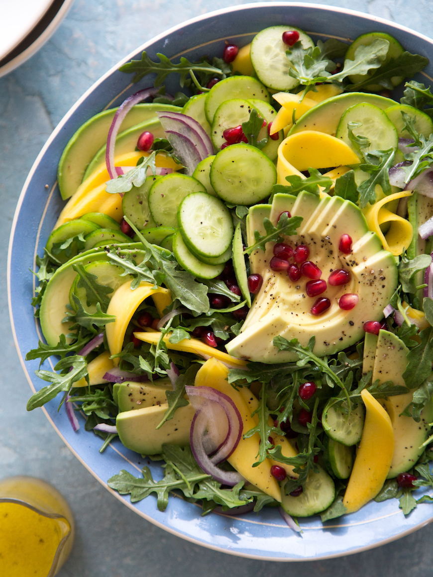Get your midweek health boost in with this Tropical Avocado Salad from What's Gaby Cooking! Photograph by Gaby at What's Gaby Cooking.