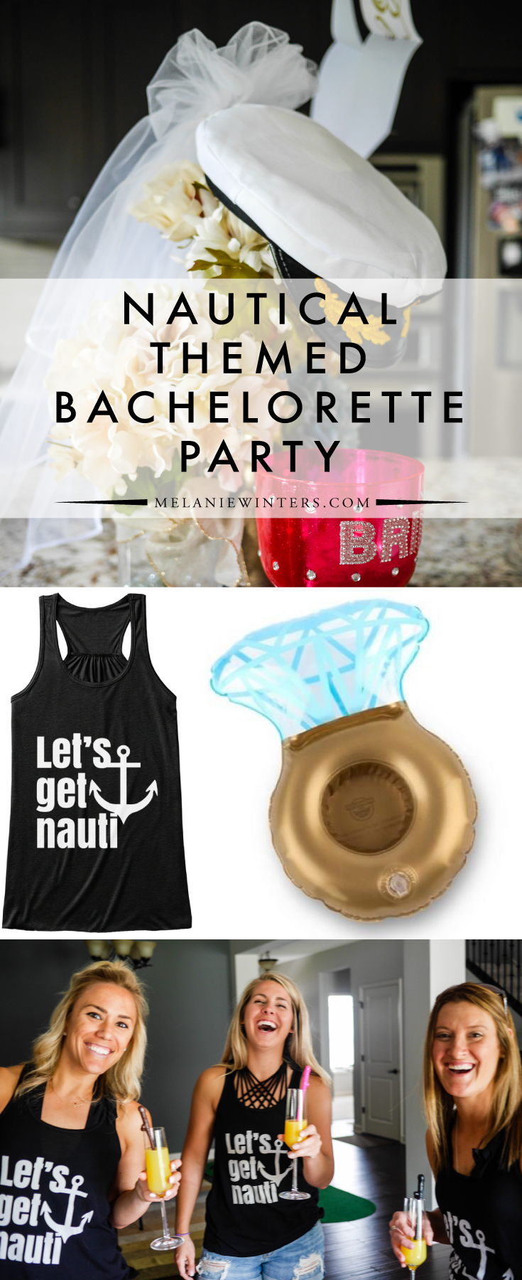 A few key accessories are all it takes to execute a nautical themed bachelorette party. Check out our favorites!