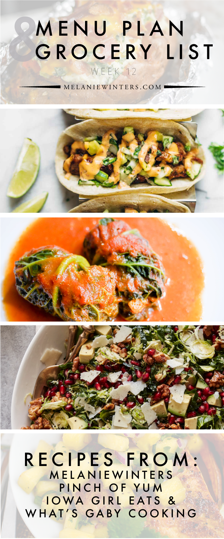 Loaded with fresh ingredients and packed with health, this week's meal plan is one you can feel good about this holiday season!
