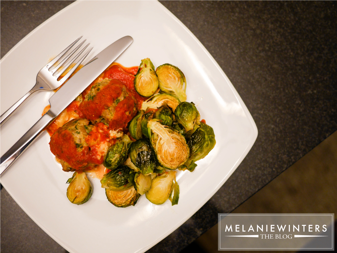 Stuffed Meatballs and Brussels Sprouts
