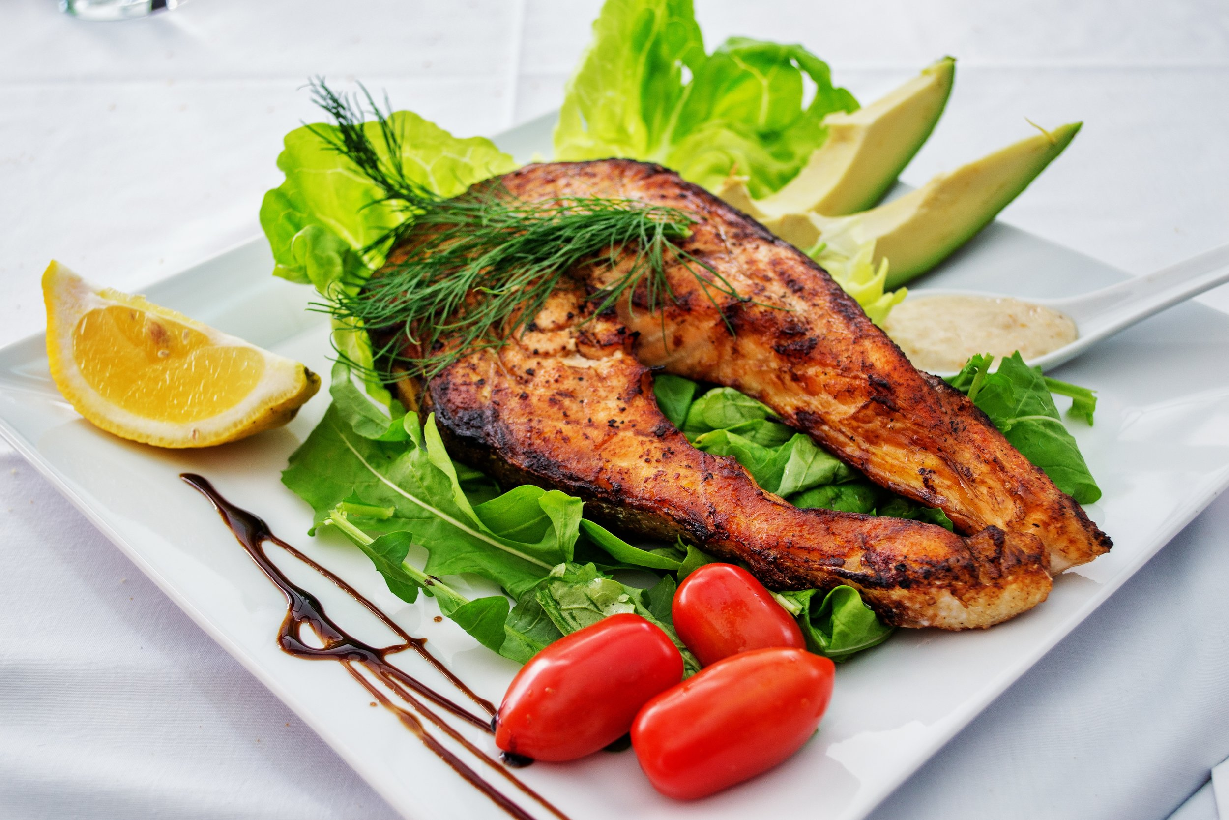 Autoimmune disease or not, fish and vegetables are a couple keys to good health.