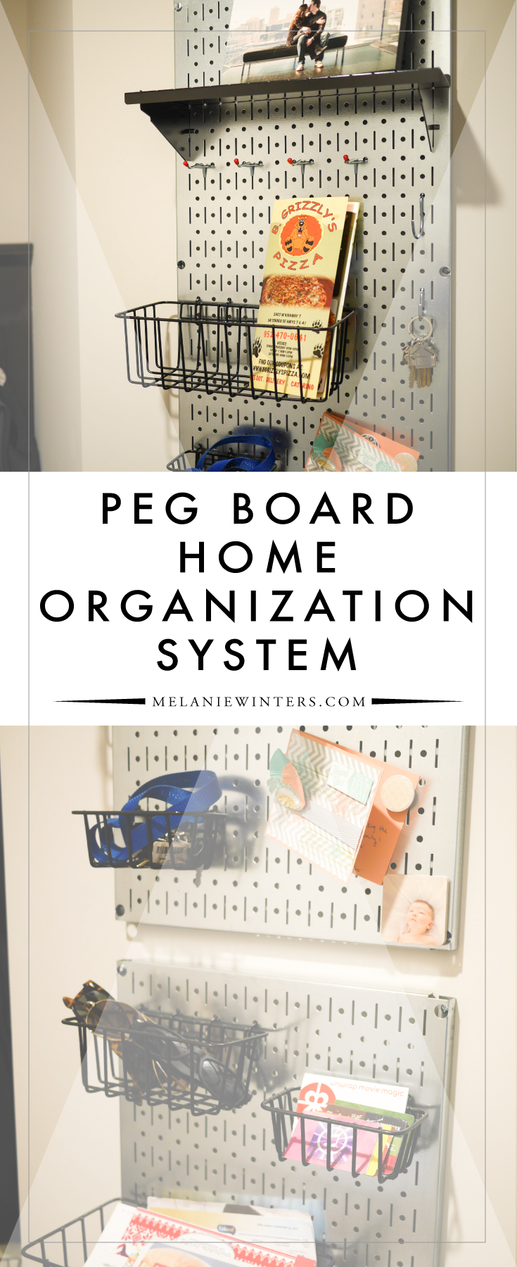Forget outdated home organization wall mounts... our peg board idea is the perfect solution for the modern home.
