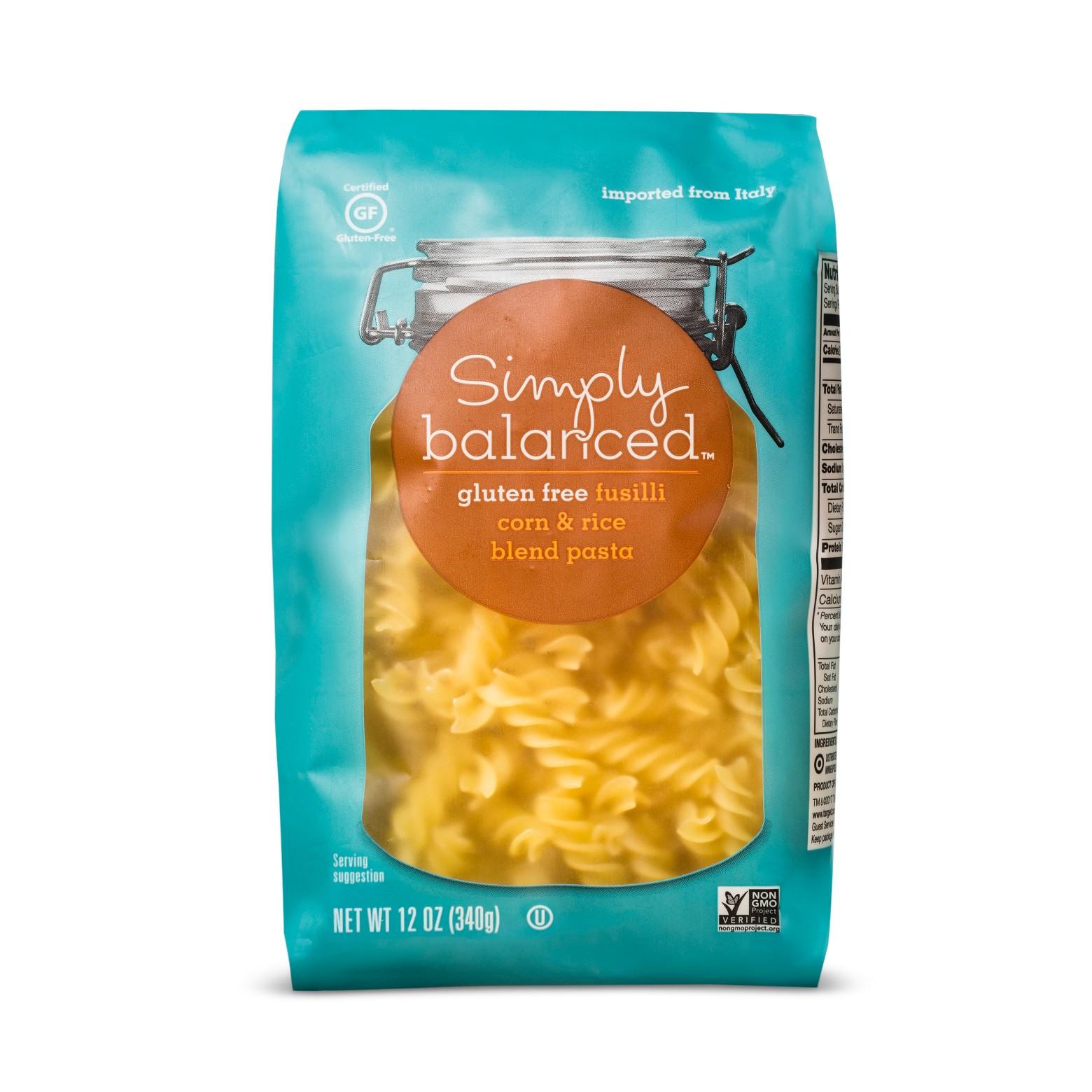 Simply Balanced GF pastas are also just as good as normal pastas.