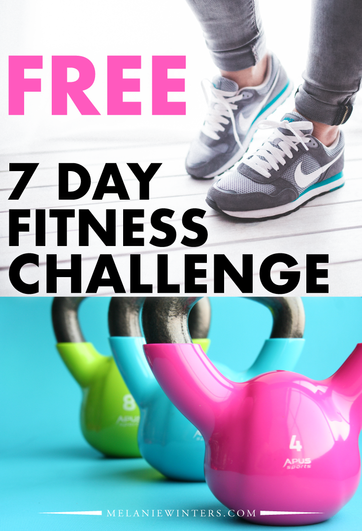 Join us for a FREE 7 day fitness challenge! All workouts are free for you to do right at home with no equipment necessary.