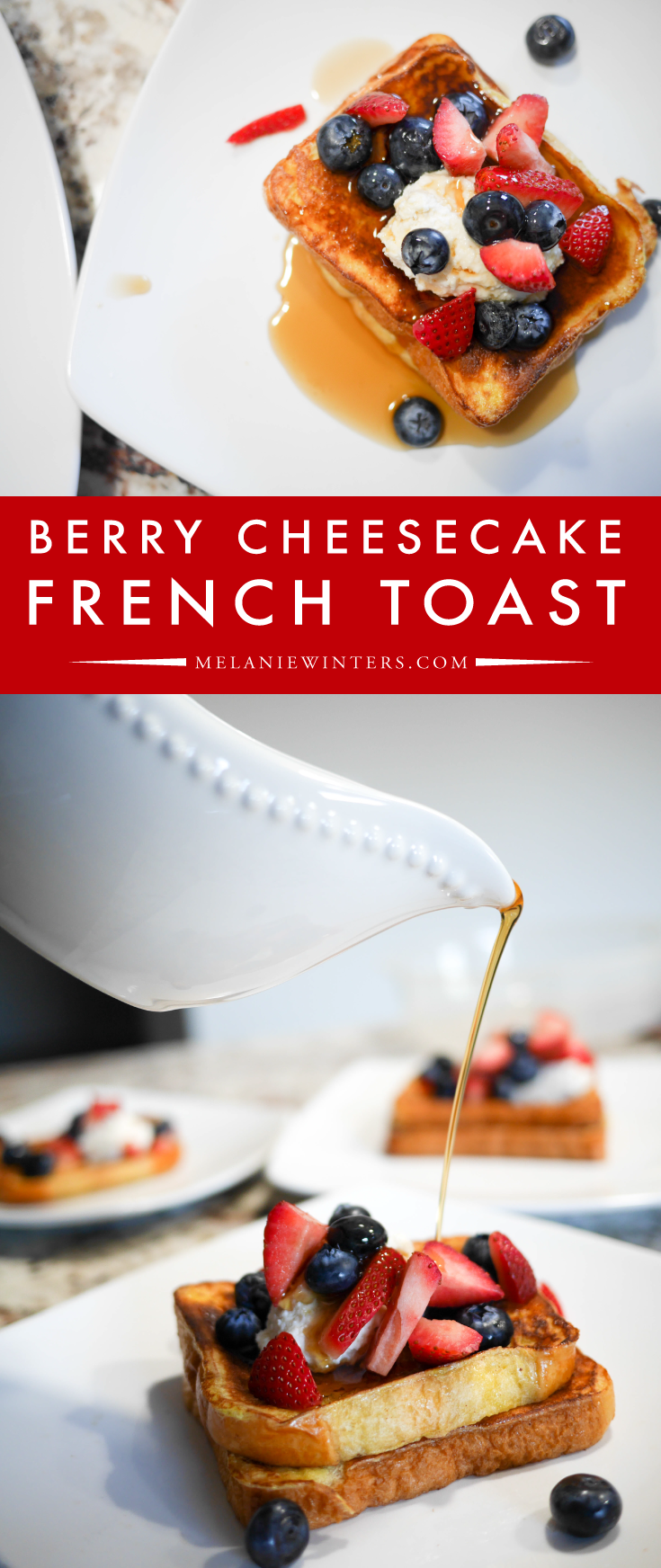 A simple cheesecake topping (or filling) is all it takes to create a next-level breakfast.