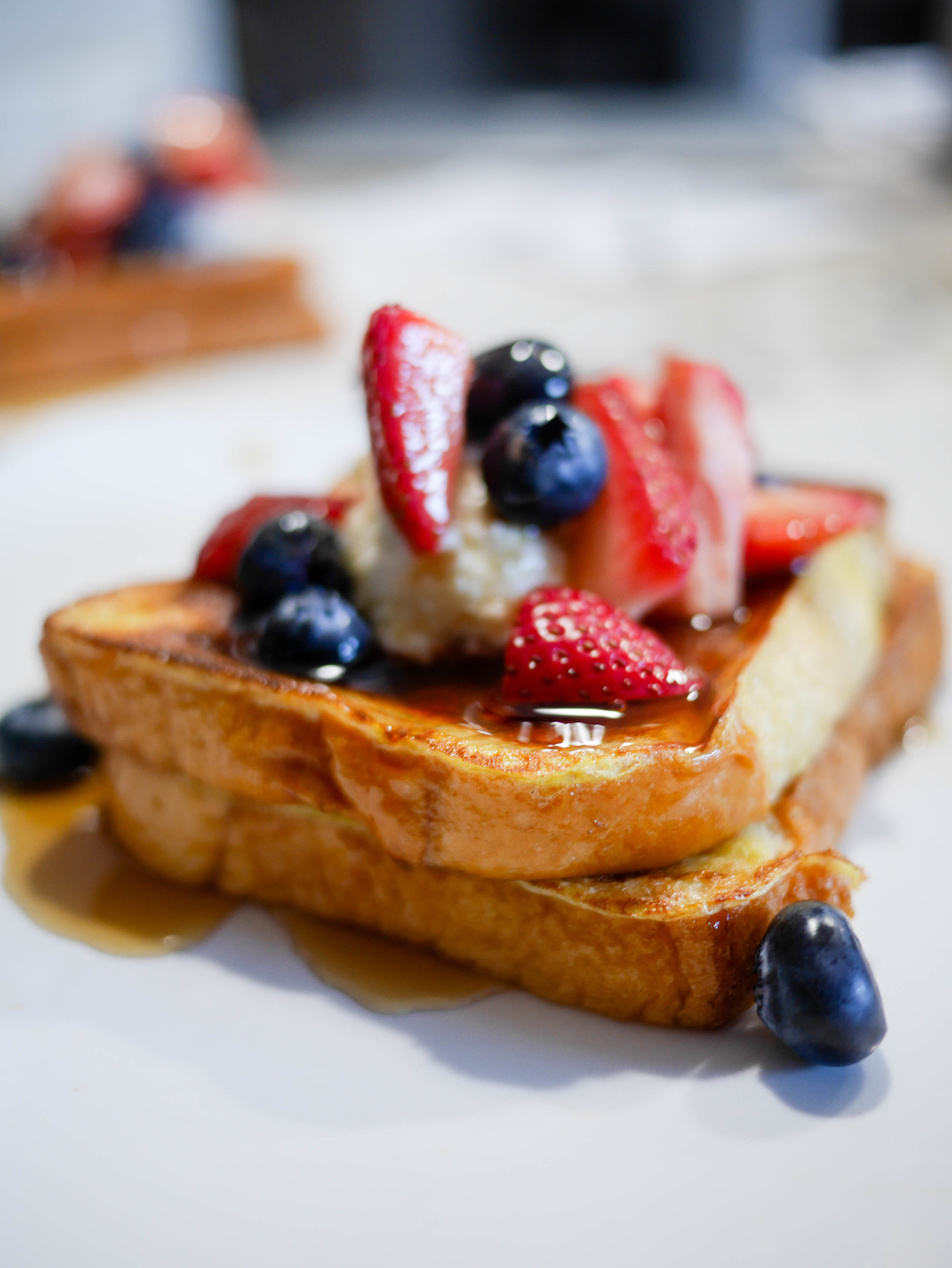 Replace the butter with our 4 ingredient cheesecake filling and you've got an upgraded french toast recipe fit for company.