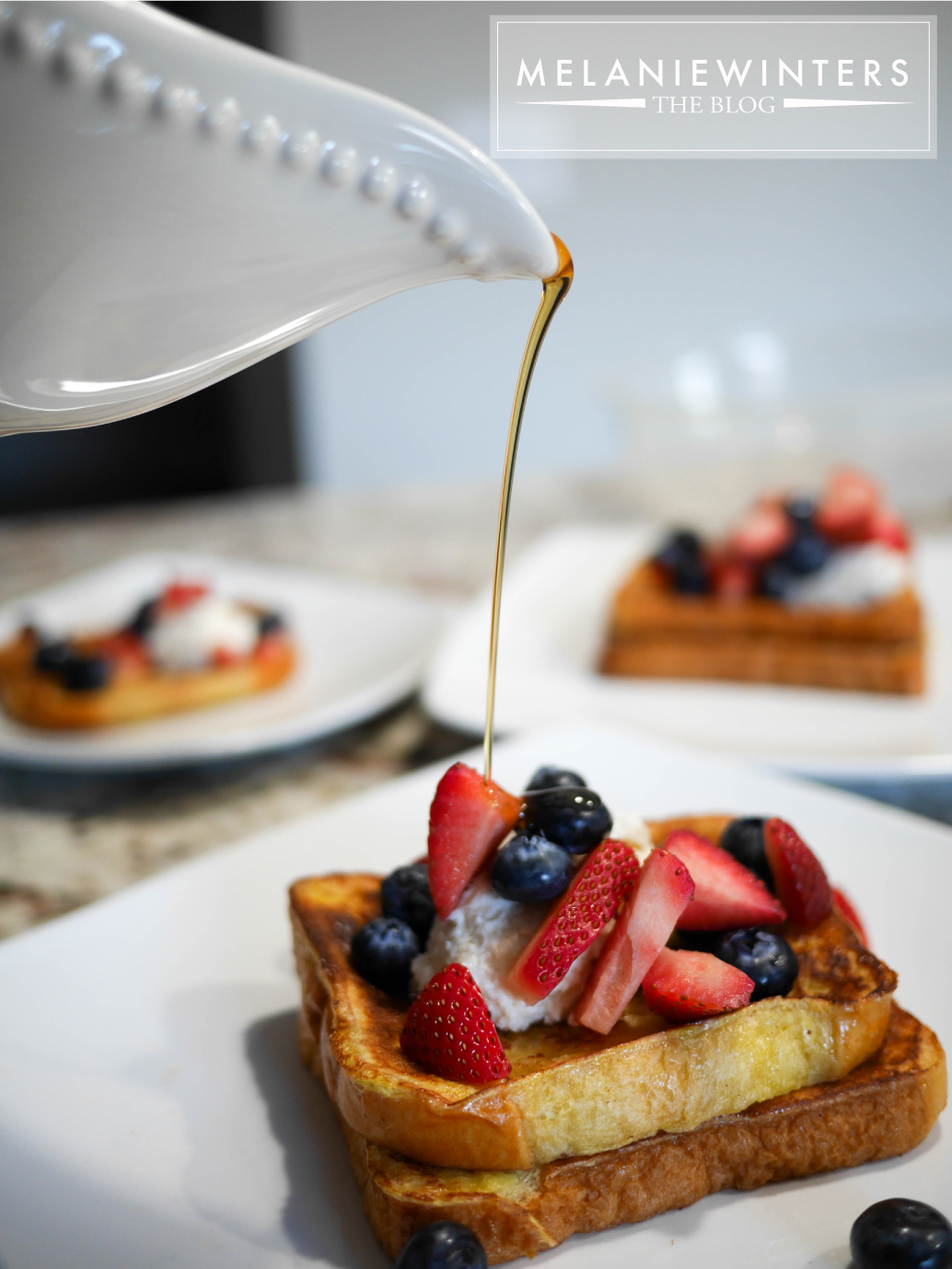 A 4-ingredient cheesecake topping and fresh berries make this french toast everyone's new favorite brunch dish.