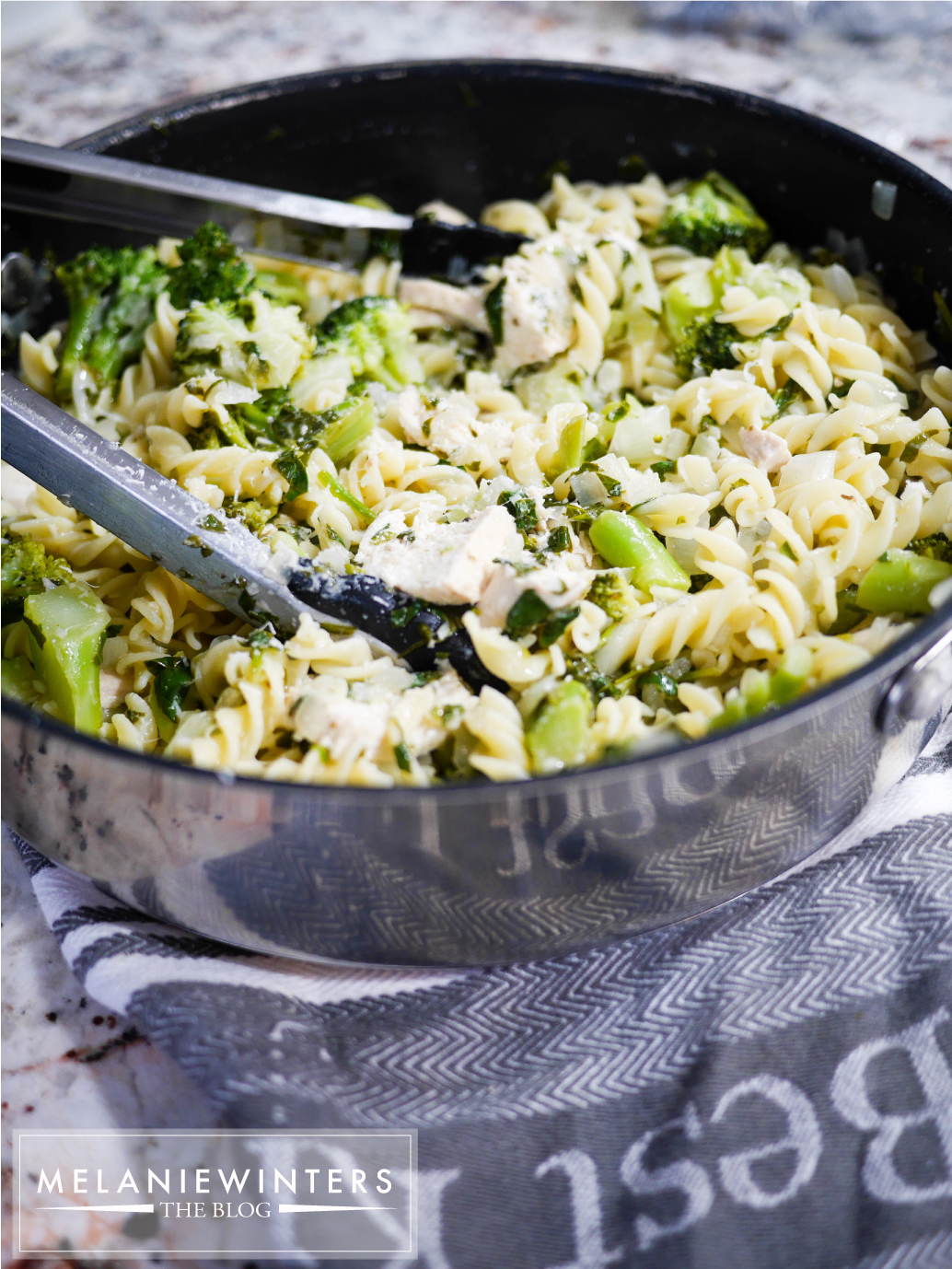 20 minutes and kid approved. The ultimate easy pasta to get your veggies in!