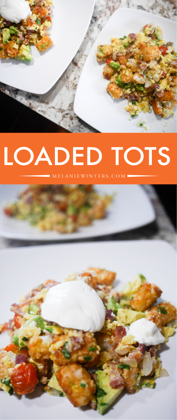 Avocado, scrambled eggs, baby greens and tomatoes make this a loaded tots recipe you don't have to feel terrible about.