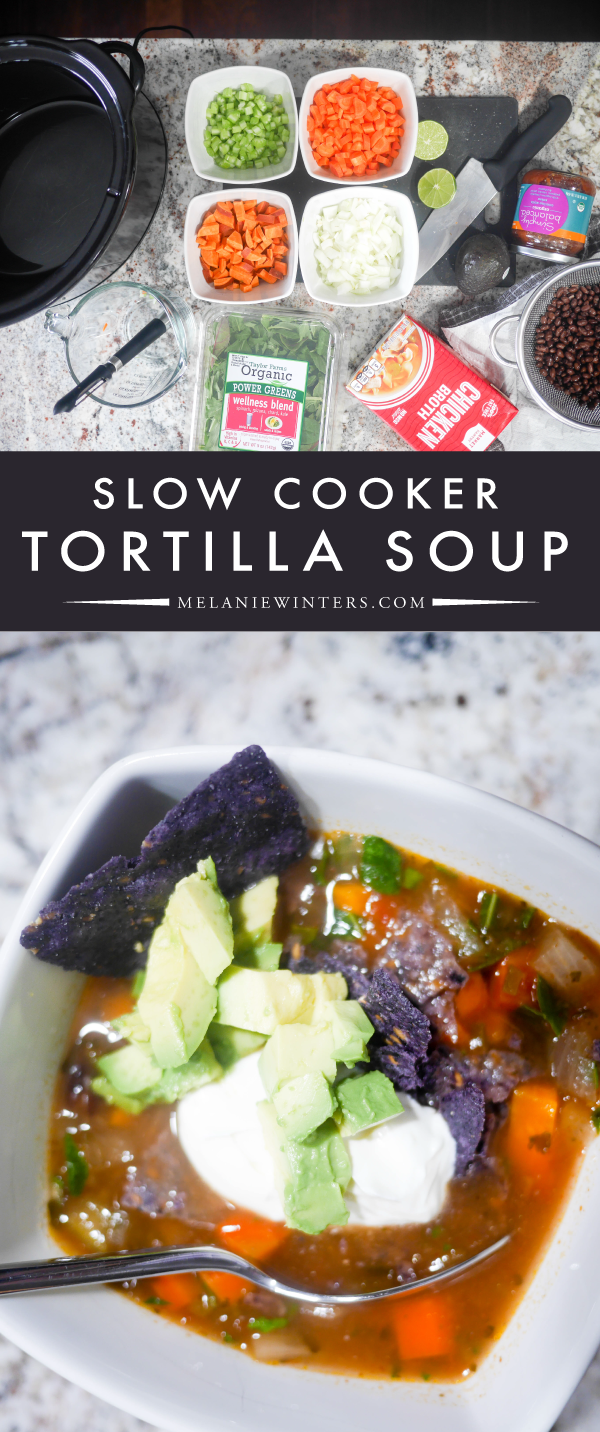 Chop the veggies and throw everything in the slow cooker, it doesn't get much easier! This set and forget soup recipe is so simple and seriously delicious.