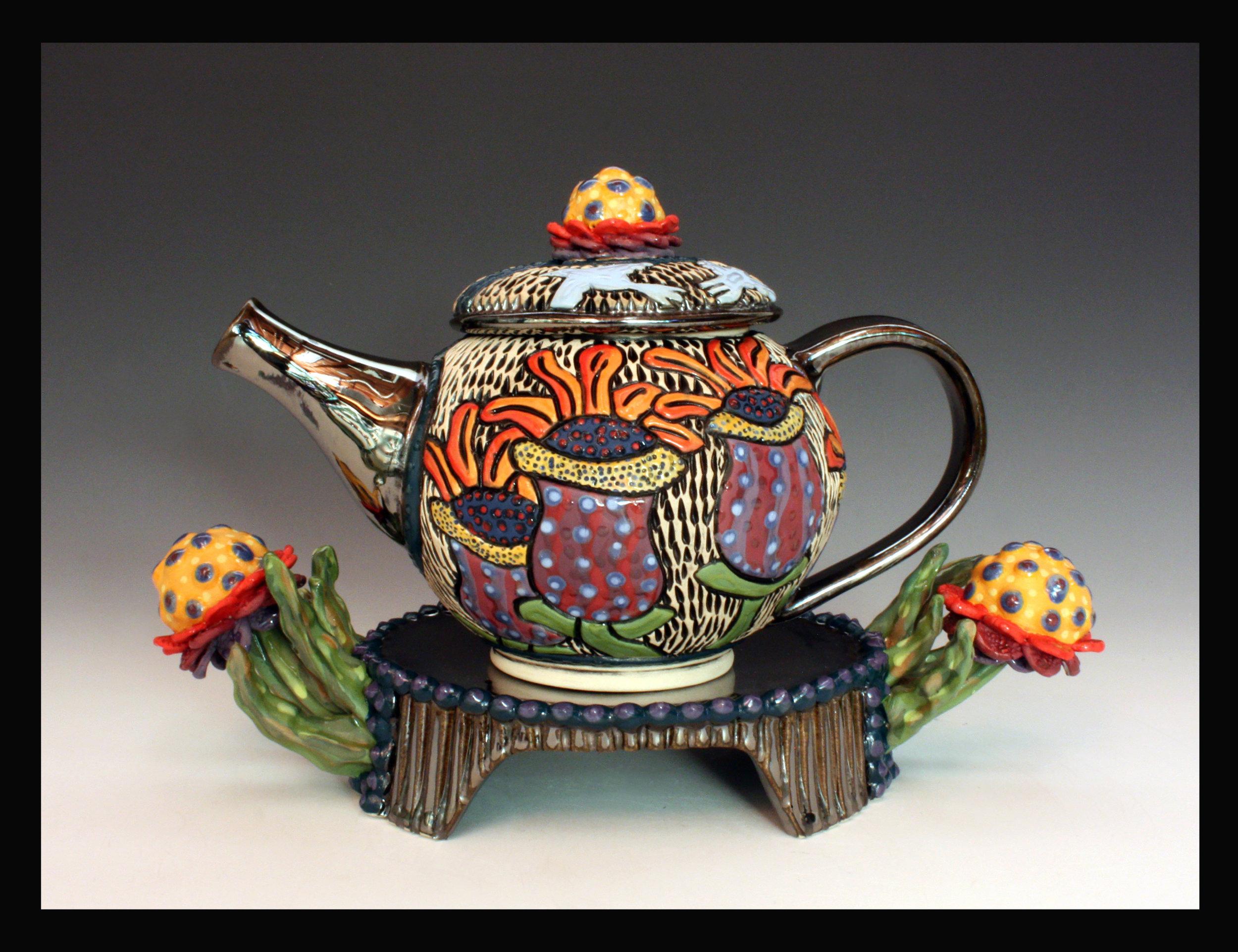 Summer Bloom Tea Pot, 2018
