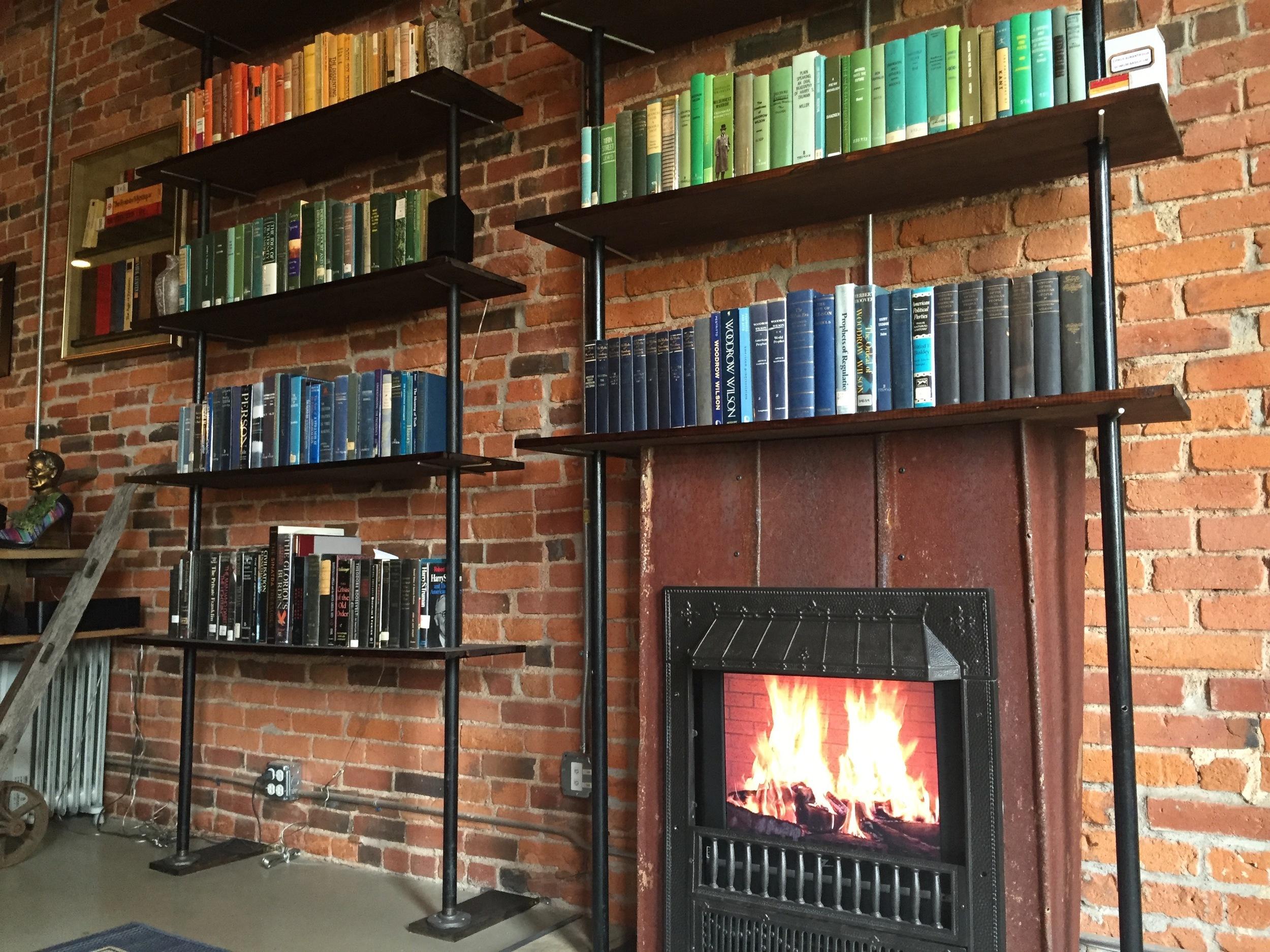Nice bookshelf arrangement, Ben!