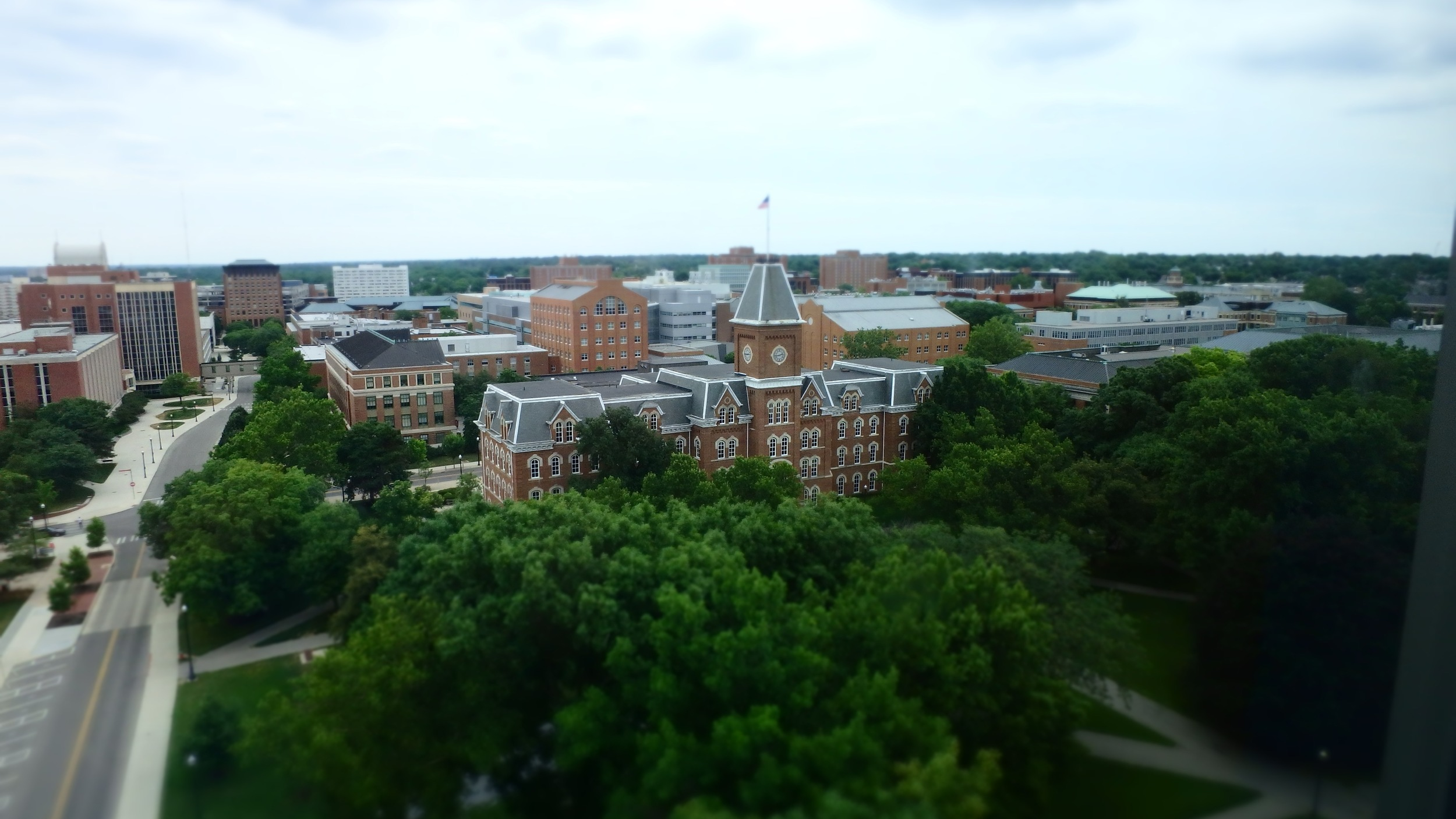 Thompson Library - view from 11th floor