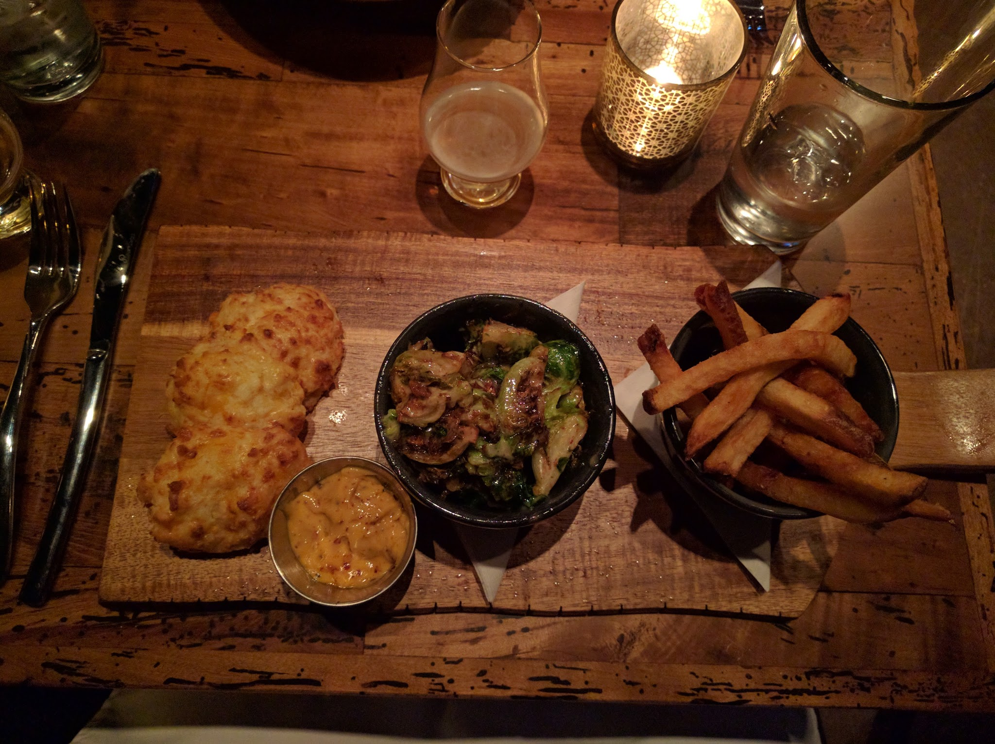 Brussels Sprouts meal from Rockmill Tavern
