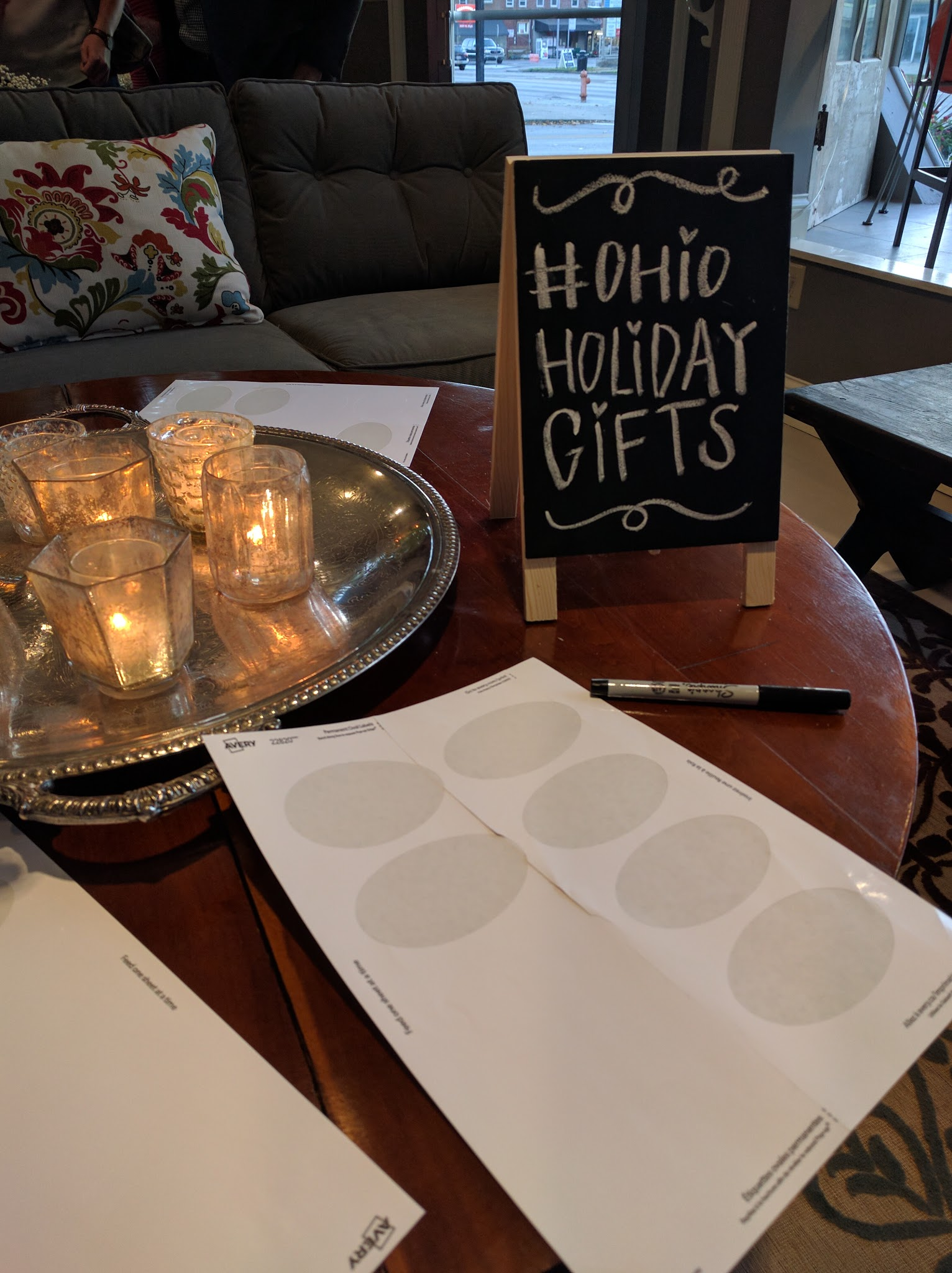 Ohio Creative Collective Holiday Gift Guide Launch was at Bleu & Fig