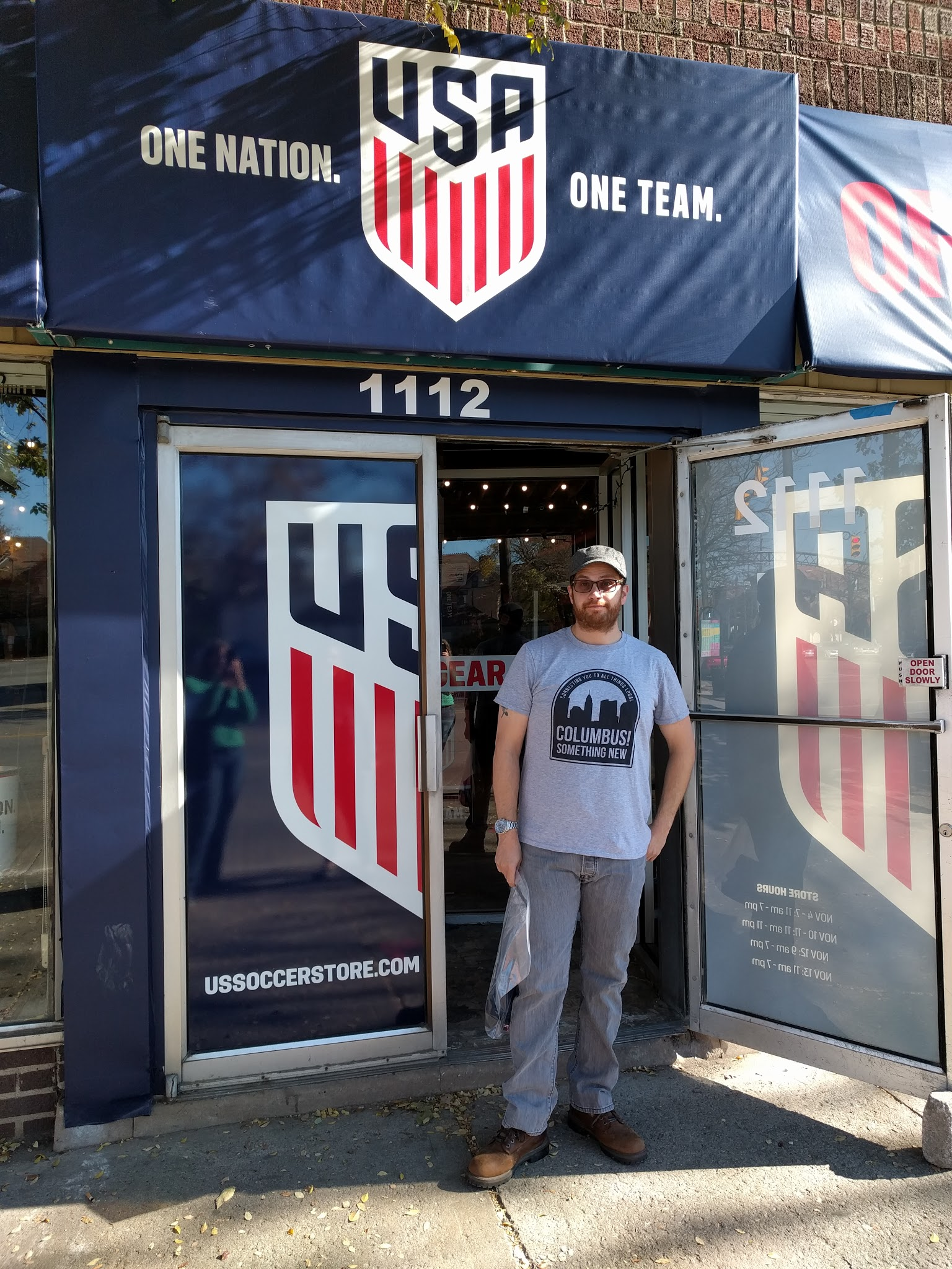 U.S. Soccer Pop up shop