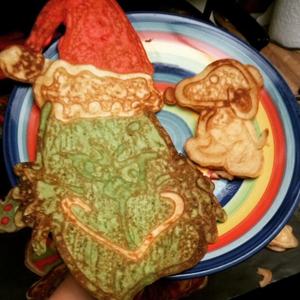 Jessica's Christmas pancakes!