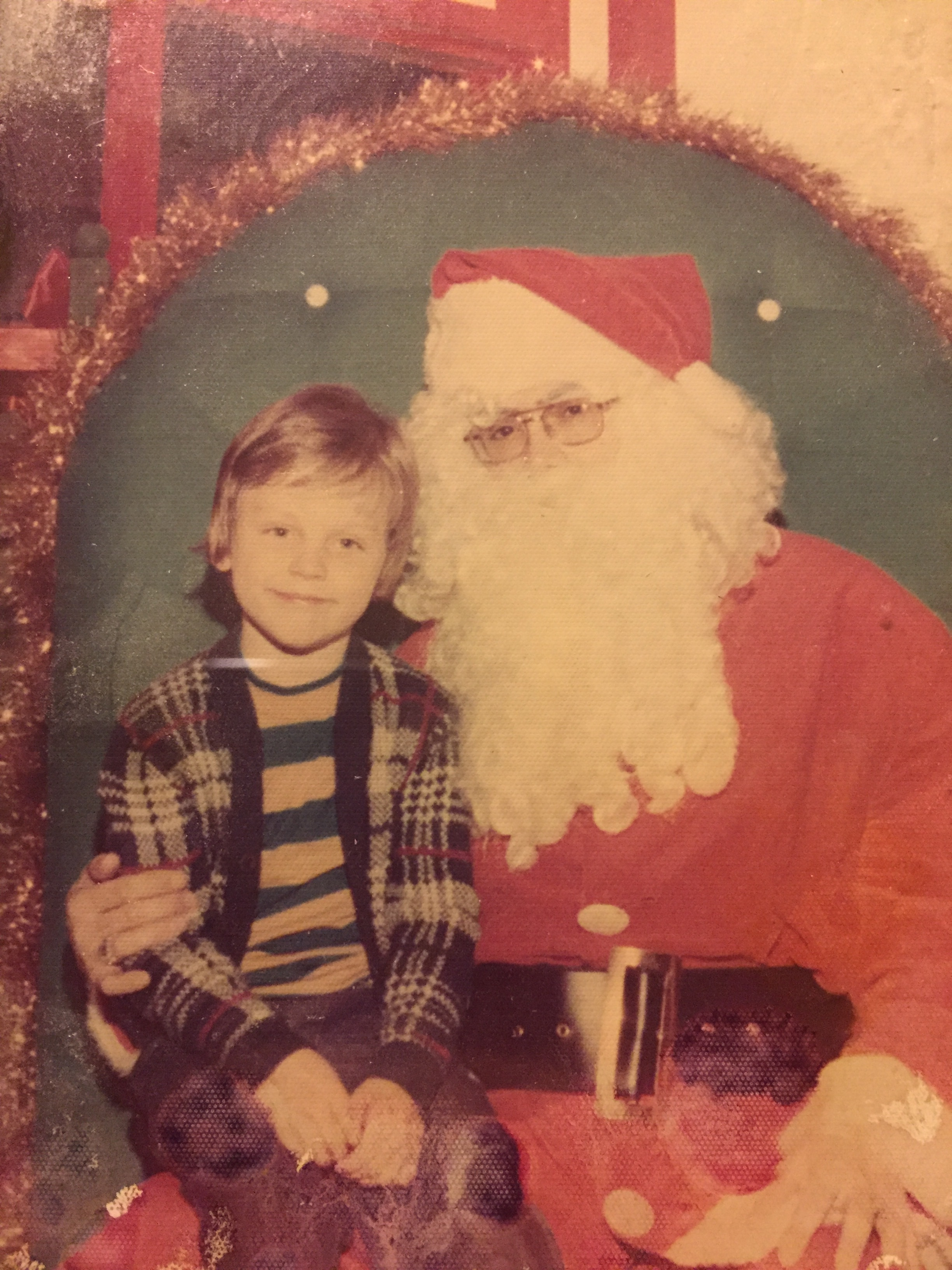 Burke and Santa!