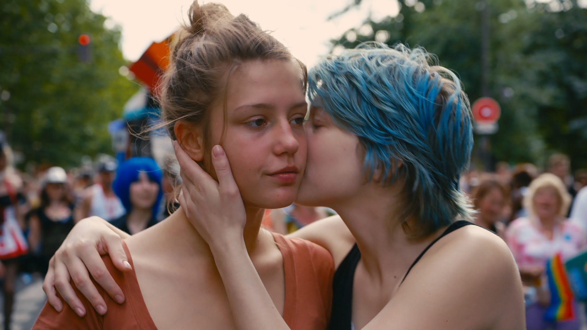 The film 'Blue is the Warmest Color,' although  controversial , brilliantly uses an unexpected color association by signifying love with the color blue. We see the relationship arc of Adèle and Emma reinforced by the gradual desaturation of the blues showing the brilliance of first love and the muted bleakness of its end.
