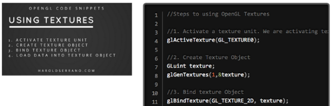 OpenGL Code Snippets