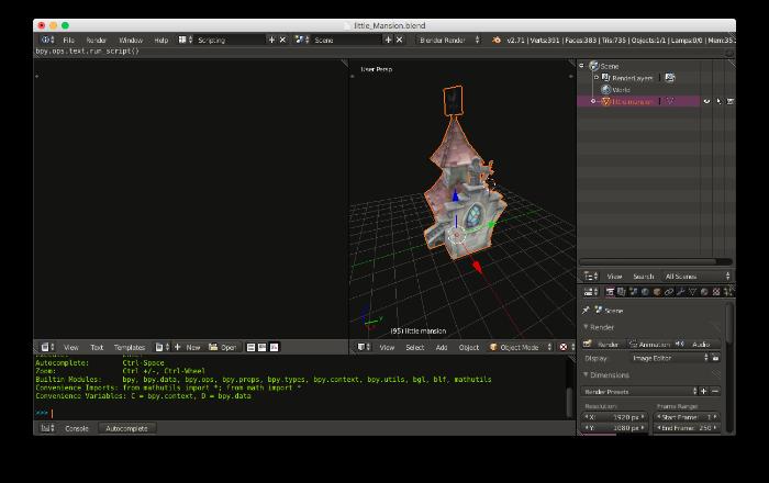 Blender 3D Script View