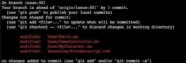 Using Git through the terminal