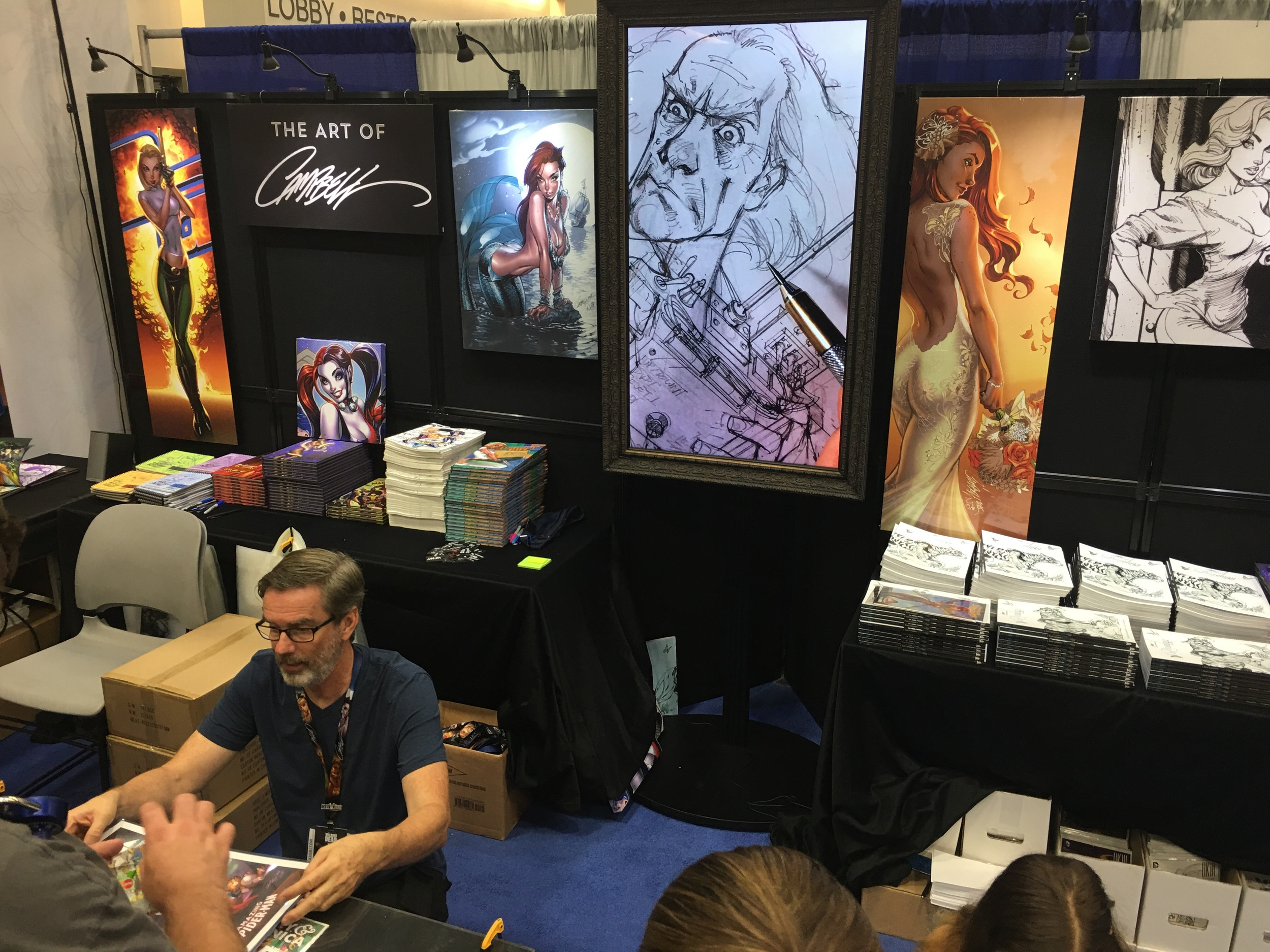 Production art and prints Cred -  J. Scott Campbell