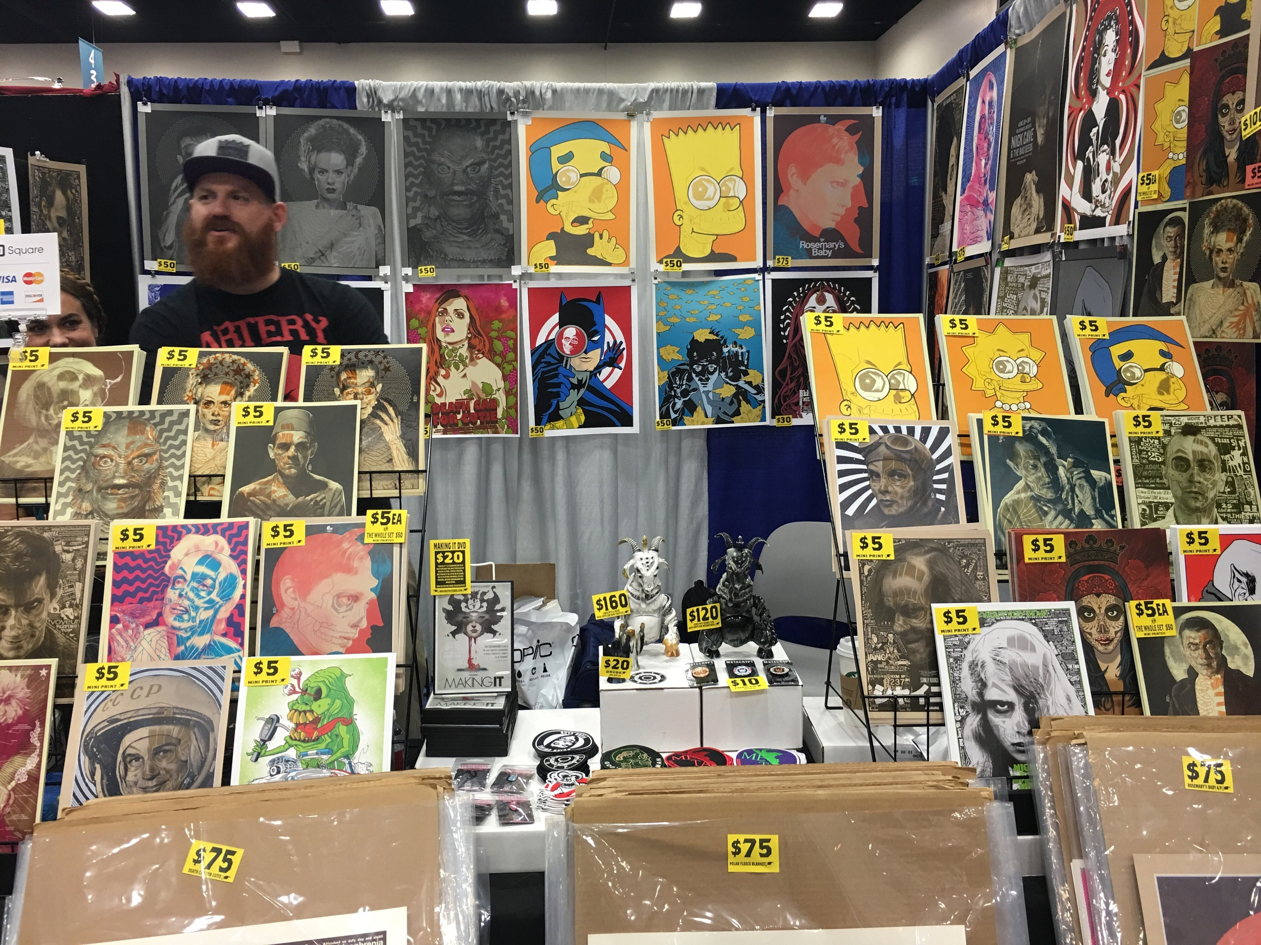 Brian Ewing  booth 4505 (artist not shown) and don't forget his Toy company Metacrypt!