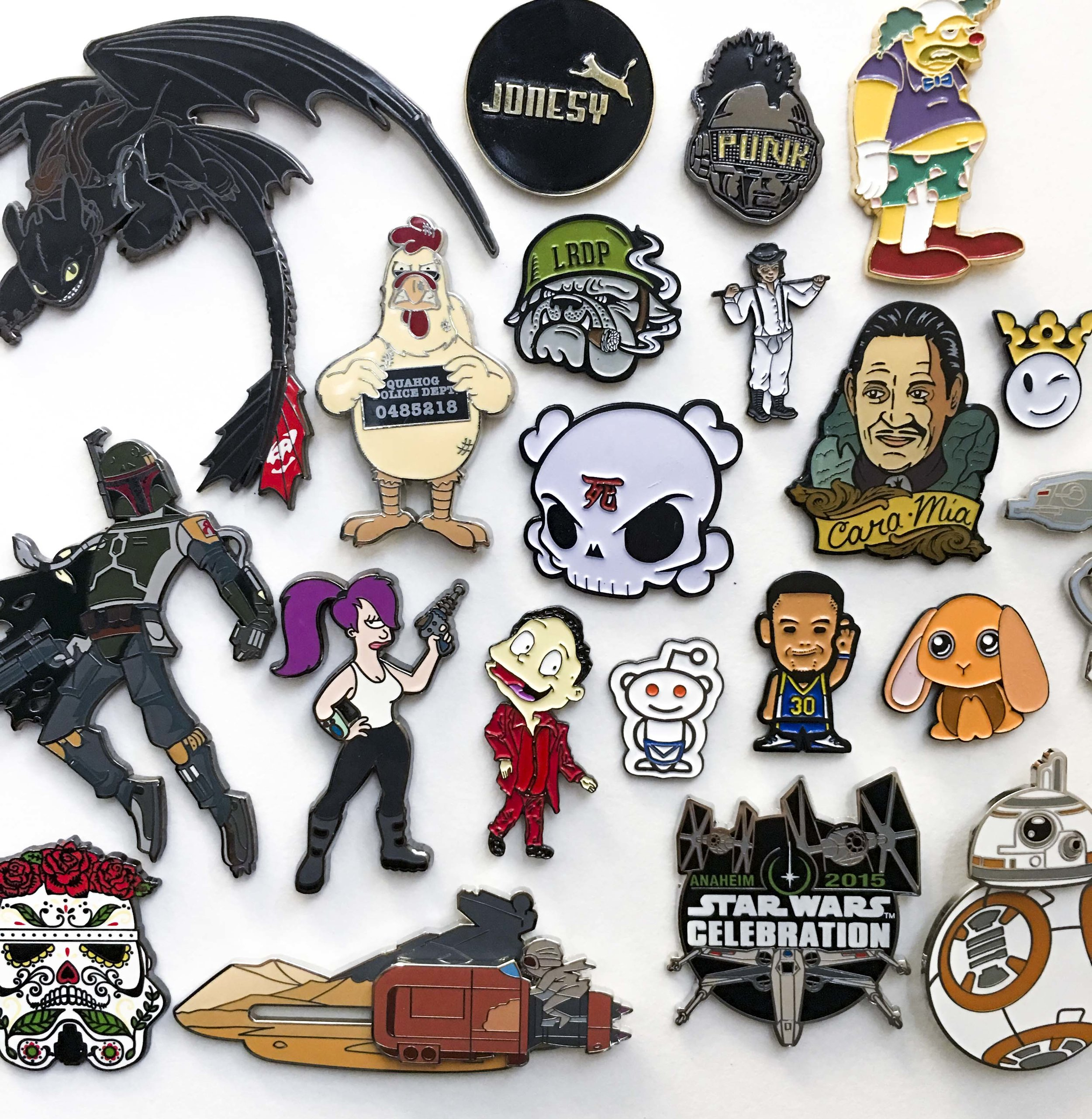 Lapel pins! - Whether it's collecting, branding, or just making something cool to share with your friends. We can help you get your design made into a metal lapel pin. From soft enamel, hard enamel, and flat printing, let us know how you want to show off your design.