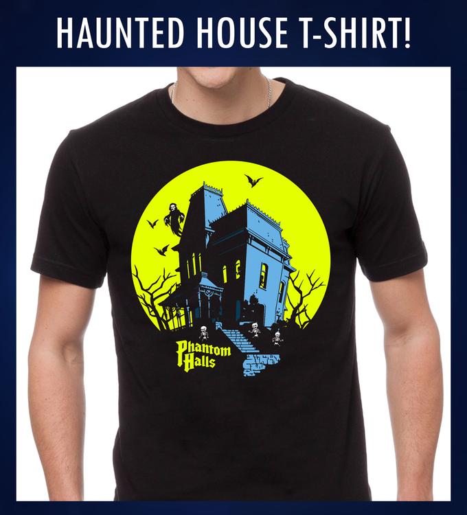 Phantom Halls House T-shirt - Designed by Matt Skiff