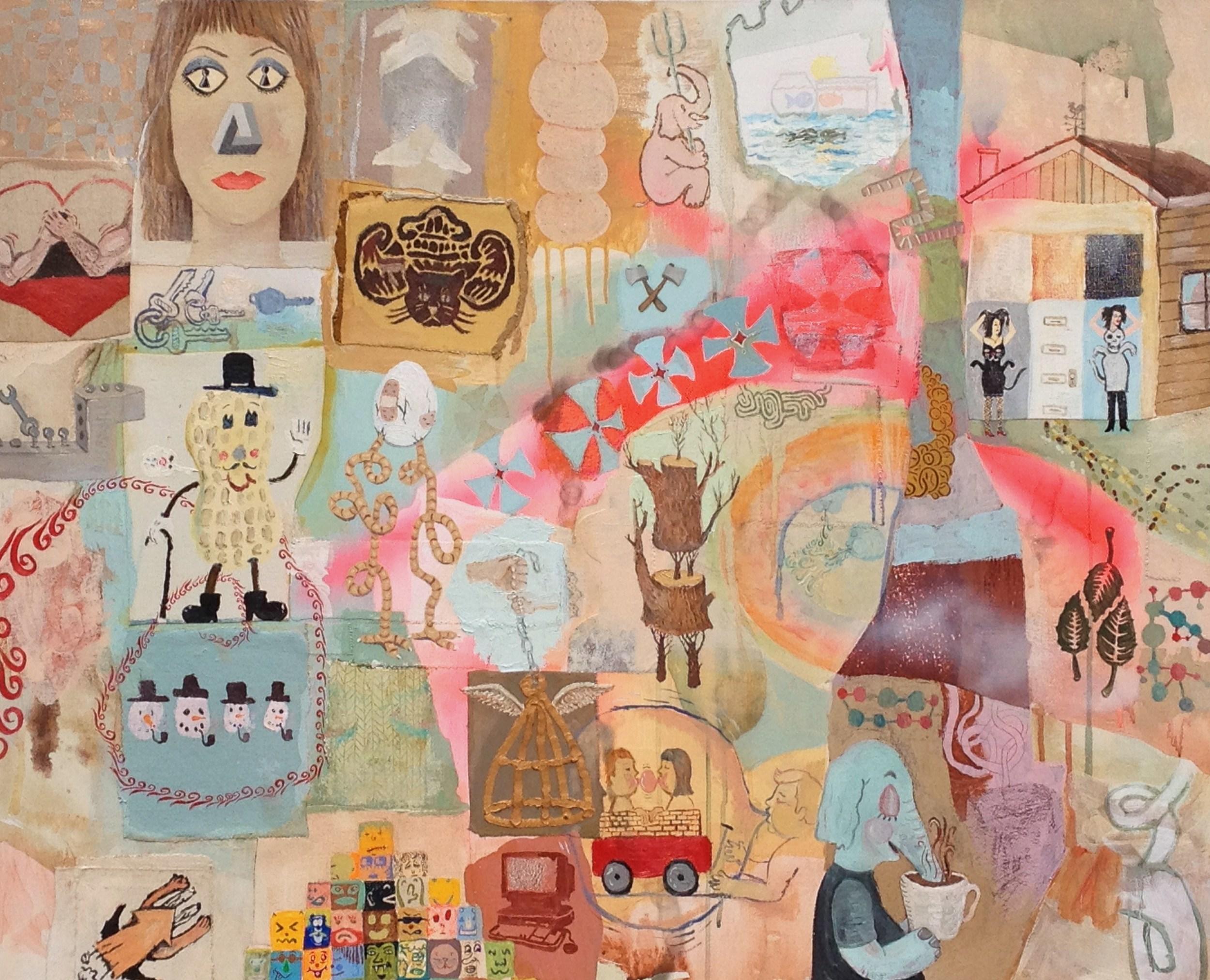 Shaun Morin, Cutting Keys, 2015. Oil acrylicon canvas,