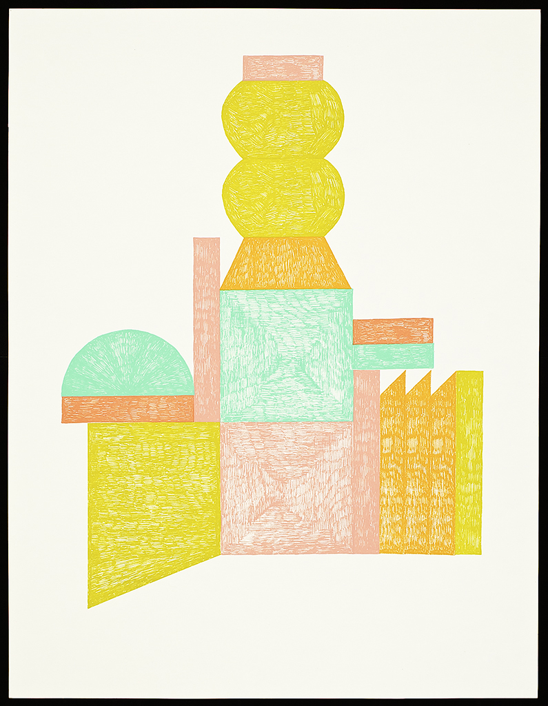 """9 x 6 Series (Palace). 2016. Screenprint. 26"""" x 20"""". Each image is one of a kind."""