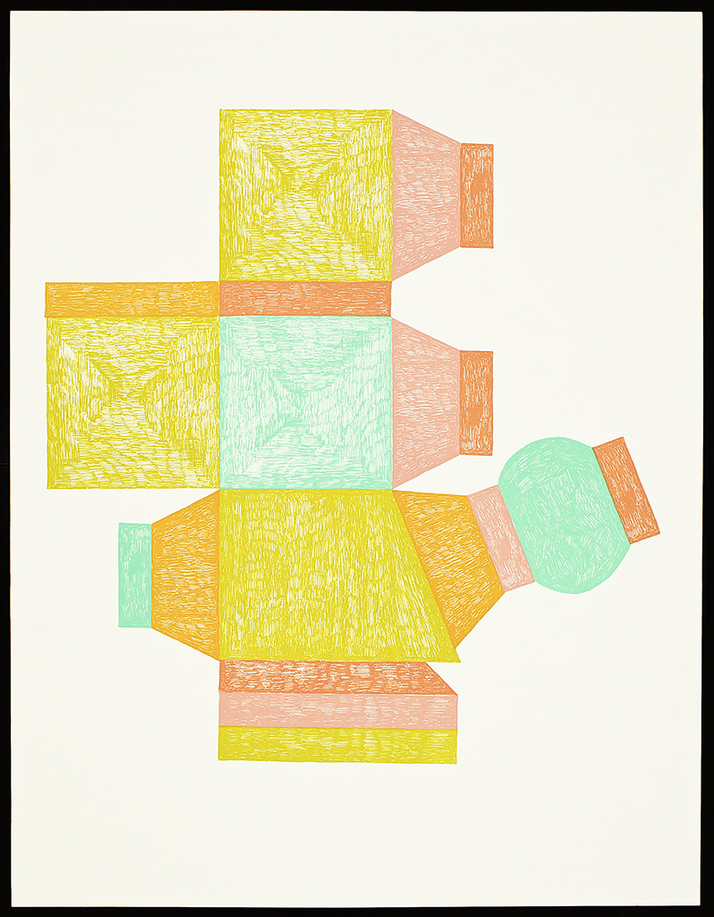 "9 x 6 Series (Unfold). 2106. Screenprint. 26"" x 20"". Each print is one of a kind."