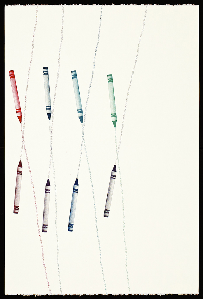 """Untitled Crayons (7), 2016. Screenprint. 22"""" x 15"""". Each print is one of a kind."""