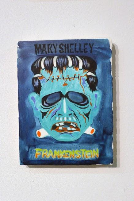 Peggy Kouroumalos, Frankenstein, 2015. Oil on panel, 8 x 6.5 inches