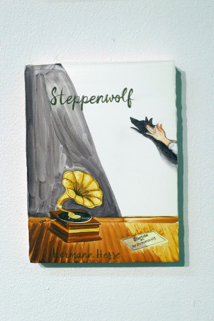 Peggy Kouroumalos, Steppenwolf, 2015. Oil on panel, 8 x 6.5 inches