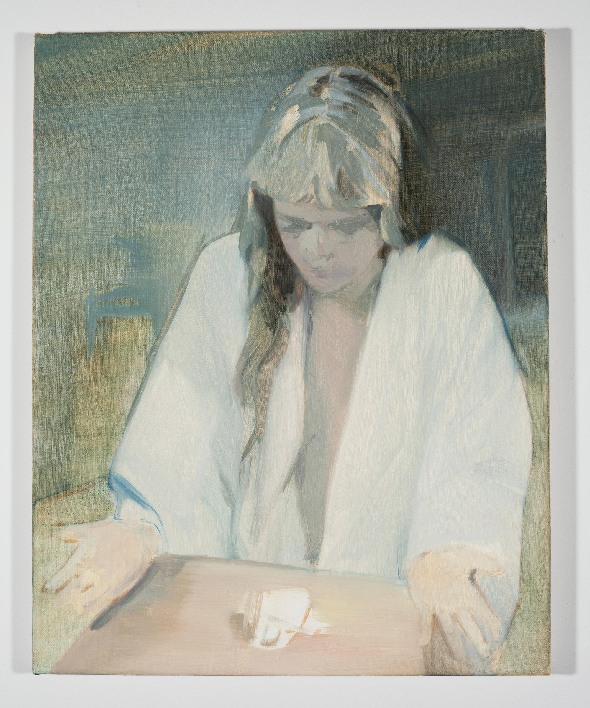Corri-Lynn Tetz, Summon , 2017, oil on canvas, 16 x 20 inches