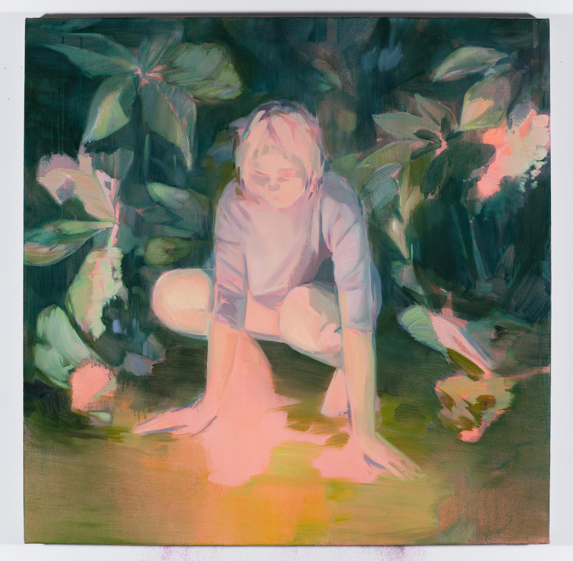 Corri-Lynn Tetz, Conjure , 2017, oil on canvas, 30x 30 inches